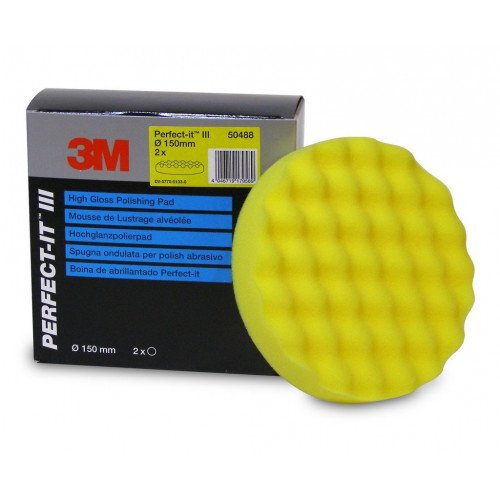 3M Perfect-it III Polishing Pad - Pad Galben Polish Mediu 150 mm