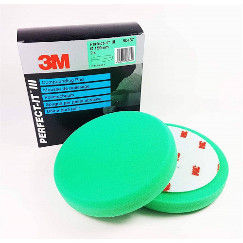 3M Perfect-it III Compounding Pad - Pad Verde Polish Abraziv 150 mm