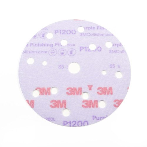 Disc Abraziv 3M Hookit 260L, P1200, 15 Gauri, 150mm