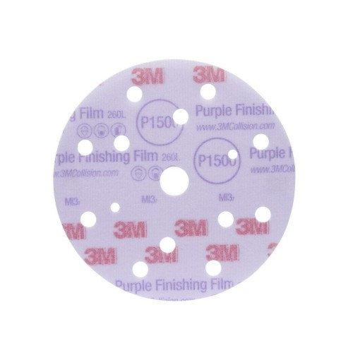 Disc Abraziv 3M Hookit 260L, P1500, 15 Gauri, 150mm