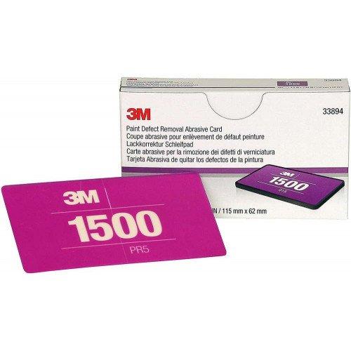 Tampon Slefuire 3M Paint Defect Removal Abrasive Card P1500, 115 x 62mm, Set 15 buc