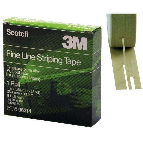 Banda Mascare 3M Fine Line Stripping Tape, 25.4mm x 13.9m