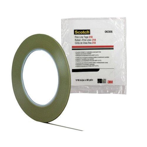 Banda Mascare 3M Scotch Fine Line Tape 218, Verde, 1.6mm x 55m