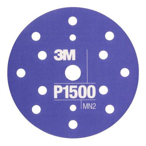 Disc Abraziv Flexibil 3M Hookit P1500, 15 Gauri, 152mm