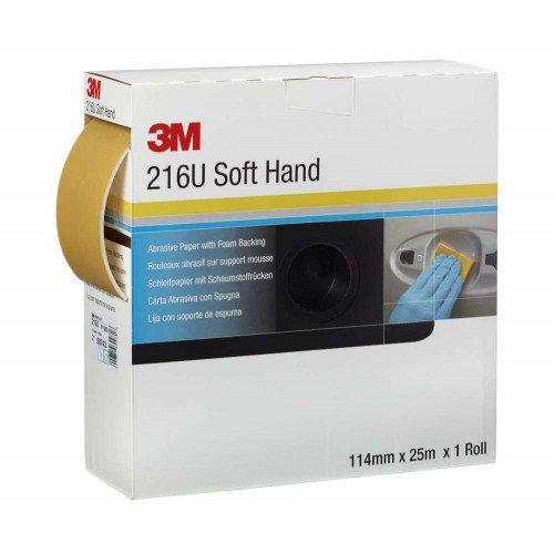 Rola Hartie Abraziva 3M Soft Hand Abrasive Roll 216U, P240, 114mm x 25m