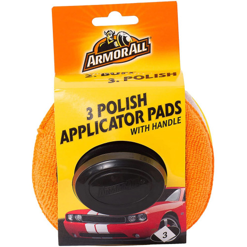 Aplicator Polish Armor All 3 Polish Applicator Pads, Set 3buc
