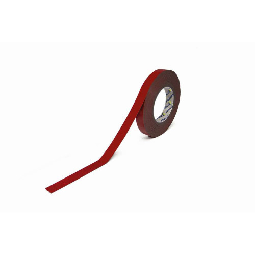Banda Dublu Adeziva Finixa Double Sided Tape Red, 12mm x 10m