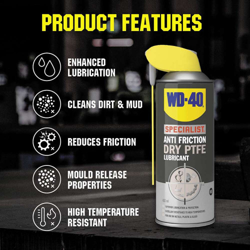 Spray Lubrifiant WD-40 Anti Friction Dry PTFE Lubricant, 400ml