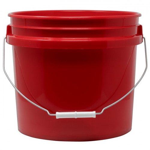 Galeata Spalare Auto Pro Detailing Grit Guard Bucket 13.5 litri, Rosu