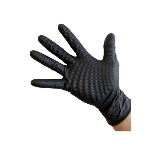 Manusi Nitril Ideall Grip, Negru, Extra-Large, 50buc