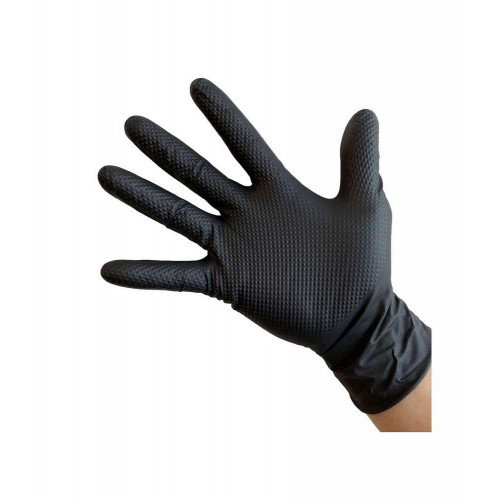 Manusi Nitril Ideall Grip, Negru, Medium, 50buc