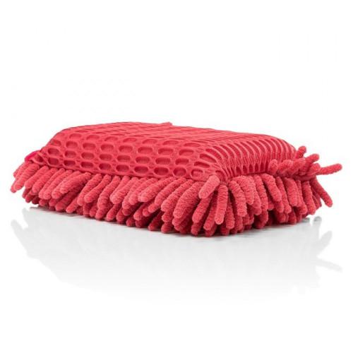Burete Spalare Auto si Curatare Insecte Pro Detailing Chenille Sponge,Rosu