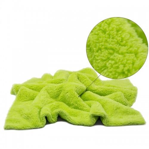 Laveta Microfibre fara Margini Pro Detailing Fluffy 550gsm, 40x40cm, Verde, 3buc