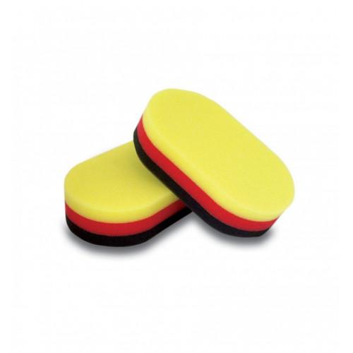 Aplicator Spuma Tricolor Flexipads Pro, 2buc