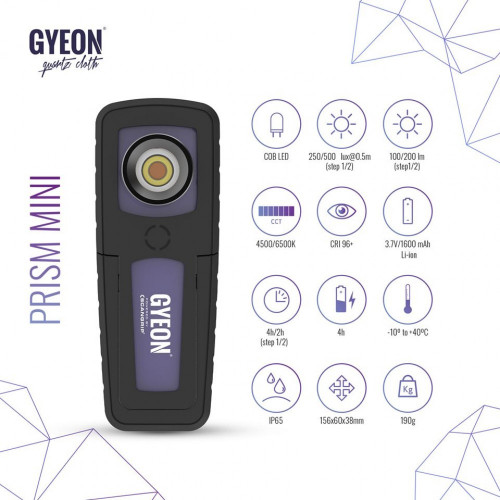 Lampa Control Led Gyeon Prism Mini,Reincarcabila