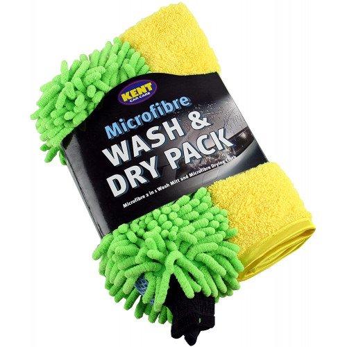 Set Manusa si Laveta Microfibre Kent Wash and Dry Pack