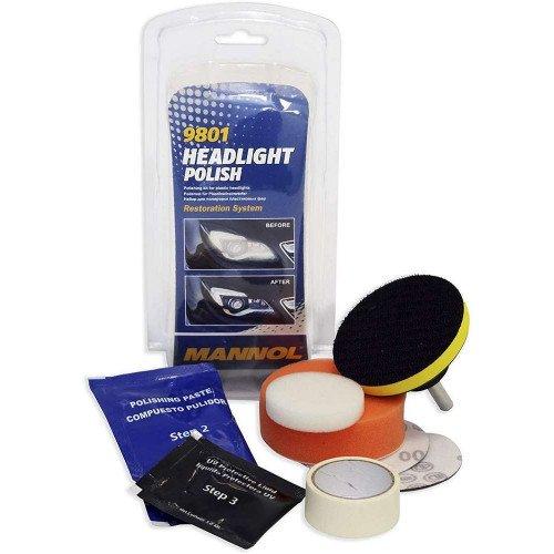 Kit Polish Faruri Mannol Headlight Polish