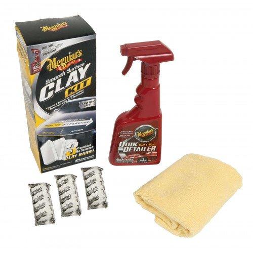 Kit Argila Decontaminare Vopsea Meguiars Smooth Surface Clay