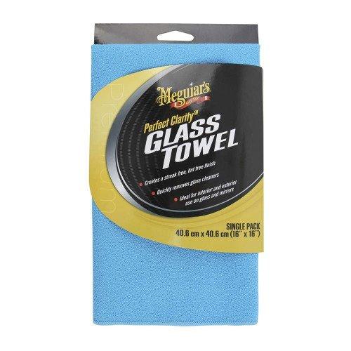 Laveta Microfibre Sticla Meguiars Glass Towel, 40x40 cm
