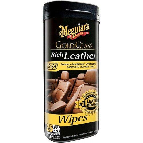 Servetele Intretinere Piele Meguiars Rich Leather Wipes, 25buc