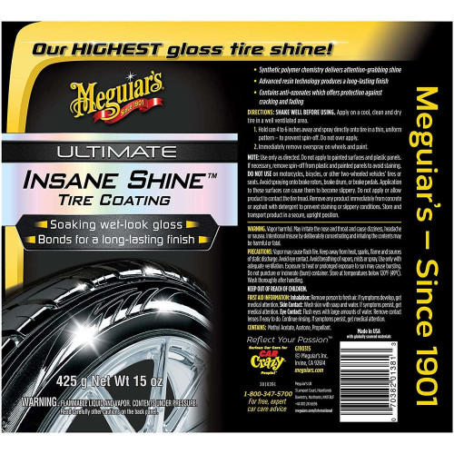 Dressing Anvelope Meguiars Ultimate Insane Shine Tire Coating, 425g