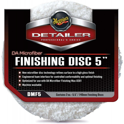 Meguiars DA Microfiber Finishing Pad - Pad Microfibre Polish 140 mm