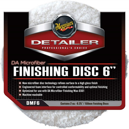 Meguiars DA Microfiber Finishing Pad - Pad Microfibre Polish 159 mm