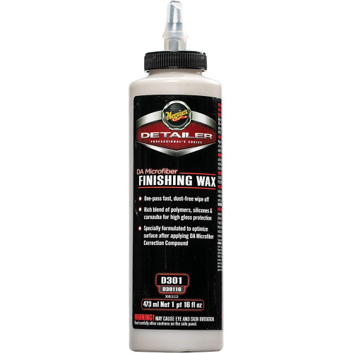 Meguiars DA Microfiber Finishing Wax D301 - Pasta Polish Finish