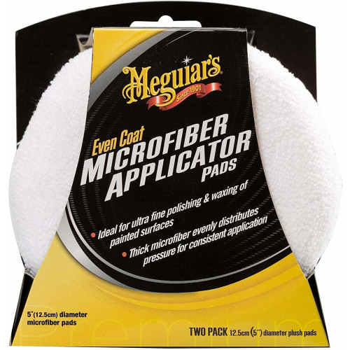 Meguiars Even Coat Microfiber Applicator Pads - Set 2 Aplicatoare Microfibra
