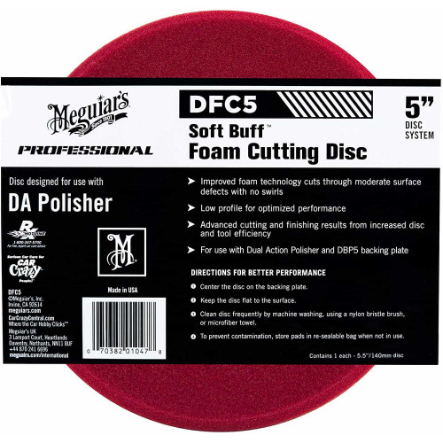 Burete Polish Abraziv Meguiars Soft Buff DA Foam Cutting Disc,5,DFC5