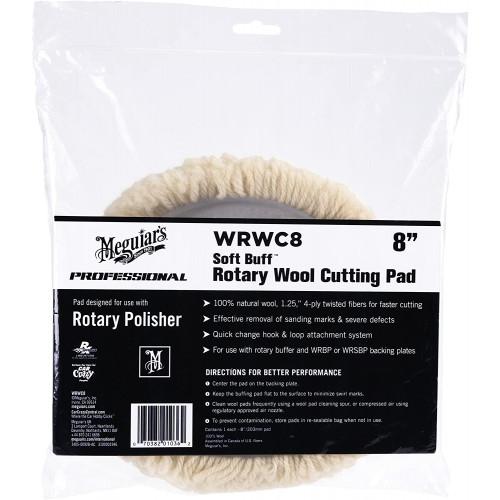 Blana Polish Abraziv Meguiars Soft Buff Rotary Wool Pad 8