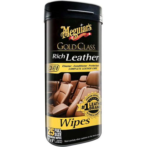 Servetele Intretinere Piele Meguiar's Rich Leather Wipes,25buc