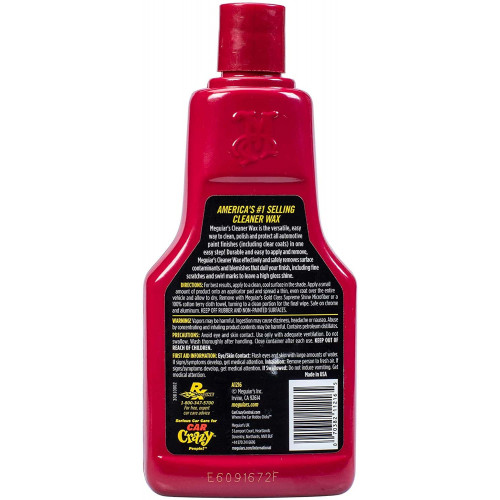Solutie Curatare Vopsea Meguiar's Cleaner Wax Liquid, 473ml