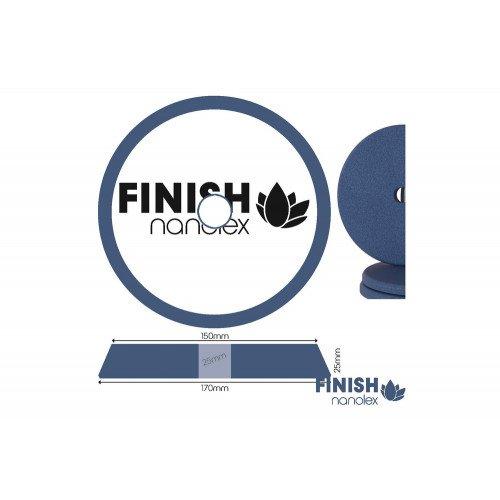 Burete Polish Fin Nanolex Polishing Pad Finish, DA, 170x25x150mm