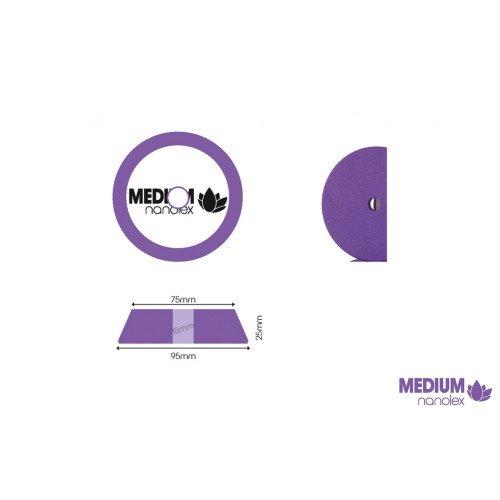 Burete Polish Mediu Nanolex Polishing Pad Medium, DA, 95x25x75mm