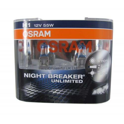Osram Bec Far Halogen Night Breaker Unlimited H1,55 W,12 V,P14.5s Set 2buc