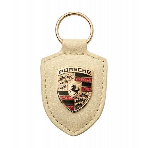 Breloc Piele Cheie Porsche, Alb