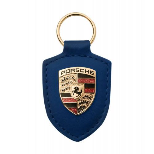 Breloc Piele Cheie Porsche, Albastru