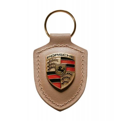 Breloc Piele Cheie Porsche, Bej