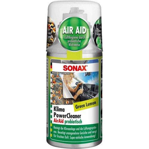 Odorizant Auto Sonax Klima Power Cleaner Green Lemon, 100ml