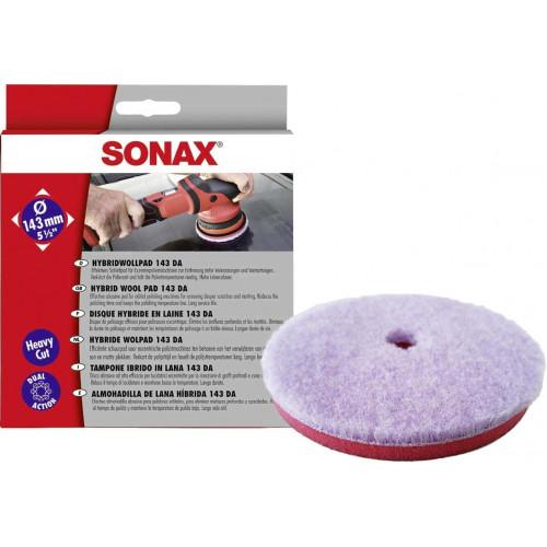Pad Lana Sonax Hybrid Wool Pad Dual Action,143mm