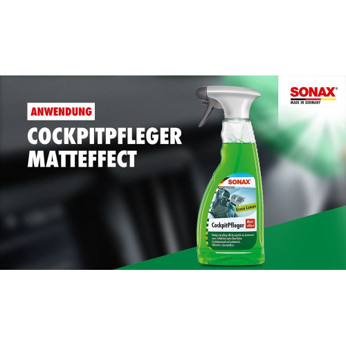 Sonax Cockpit Spray Matt Effect Green Lemon - Spray Curatare Bord Lamaie Verde