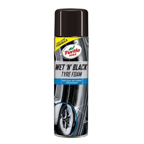 Solutie Curatare Anvelope Turtle Wax Wet n Black Tyre Foam, 500ml