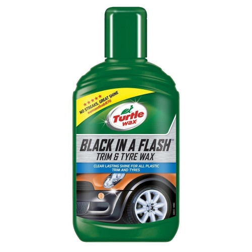 Dressing Chedere si Anvelope Turtle Wax Black In A Flash Trim and Tyre Wax, 300ml