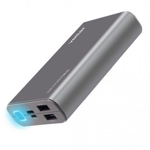 Acumulator Extern Vetter iCharge Pro 3, 2 x USB QC 3.0, 10200 mAh, Gri