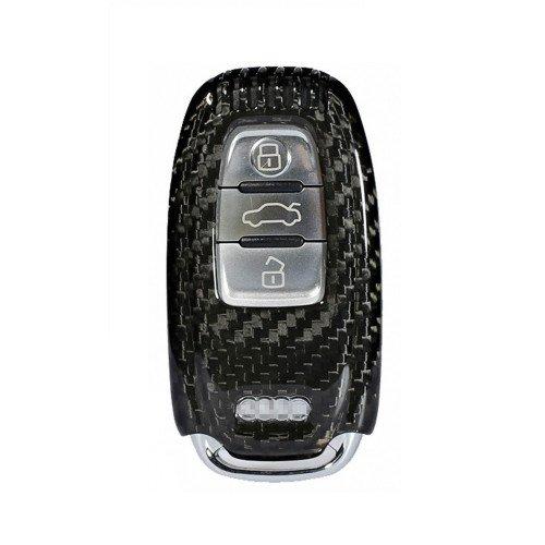 Husa Cheie Audi A1, A3, A4, Q5, Q7 Vetter Carbon, Glossy Black