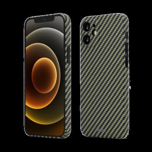 Husa Protectie Telefon Vetter Clip-On Slim Aramid Fiber, Kevlar pentru Iphone 12 Mini, Verde