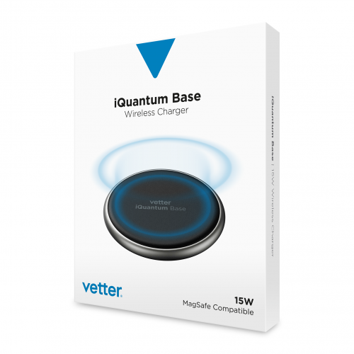 Incarcator Wireless Vetter MagSafe iQuantum Base, 15W, Aluminiu