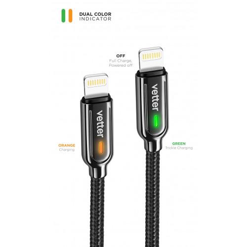 Cablu de date si incarcare Vetter Smart Lightning,Auto Disconnect,1.2m