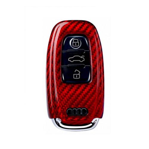 Husa Cheie Audi A1, A3, A4, Q5, Q7 Vetter Carbon, Glossy Red